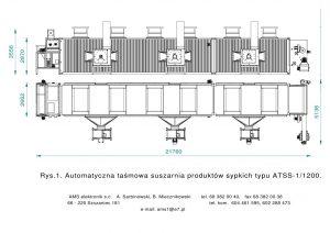 AUTOMATYCZNA TAŚMOWA SUSZARNIA PRODUKTÓW SYPKICH TYPU ATSS-1/1200
