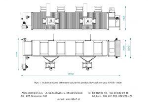 AUTOMATYCZNA TAŚMOWA SUSZARNIA PRODUKTÓW SYPKICH TYPU ATSS-1/800